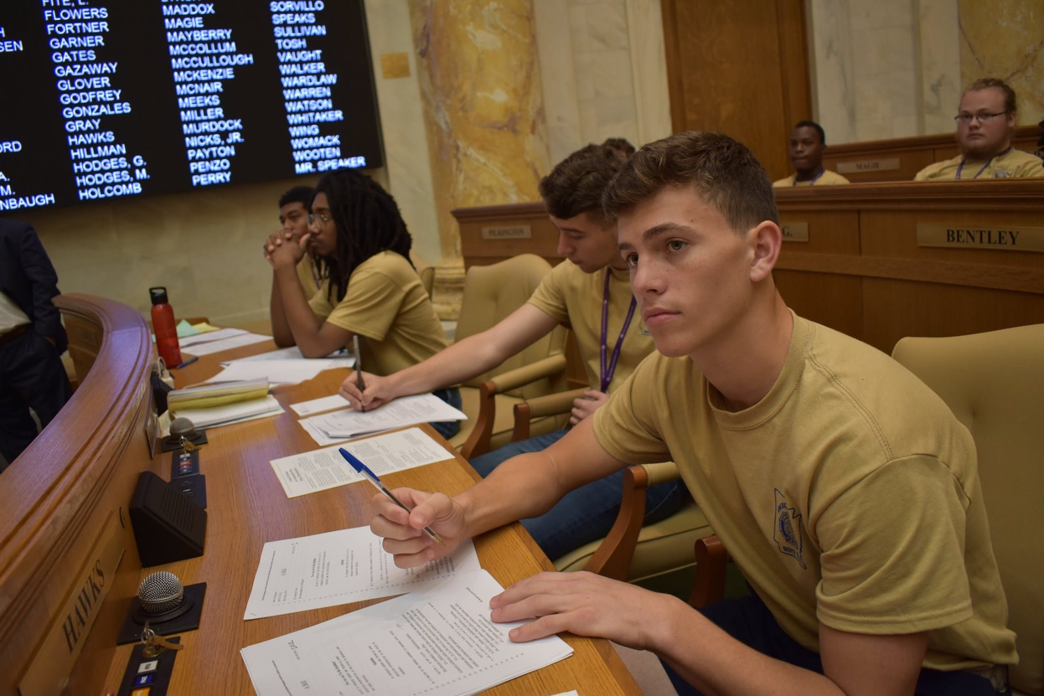 Delegates elected to House of Representatives at Arkansas Boys State 2021